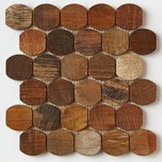 Barrel Teak Tiles in Patina. Prices are Per Square Foot