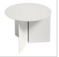 slit table round - white