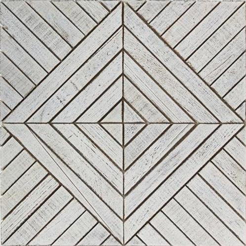 Frank Teak Tile in White. Prices are Per Square Foot