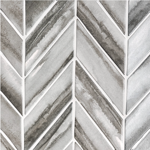 "Scape Collection in Storm Herringbone 2""x6"". Prices are Per Square Foot"