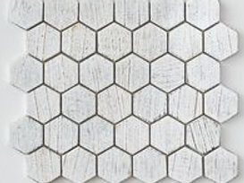 Hexagon Teak in White.  Prices are Per  Square foot.