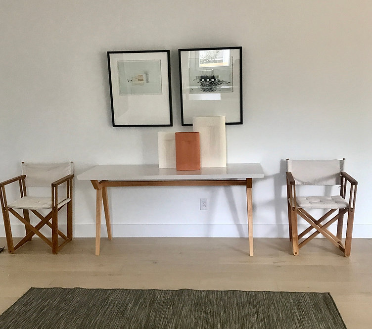 pair of canvas chairs