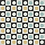 "Thumbnail: Malmo Cement Tile in 8""x8"" black/white/yellow/aqua. Prices are Per Square Foot"