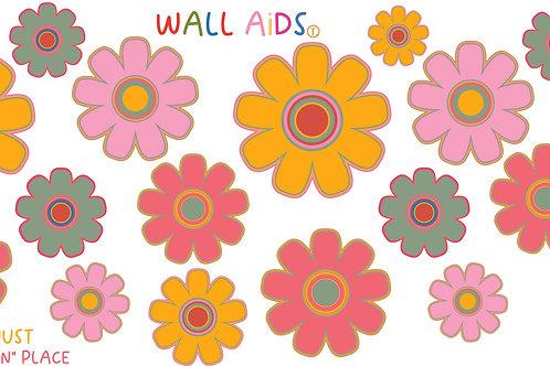 Fresh flower wall decals