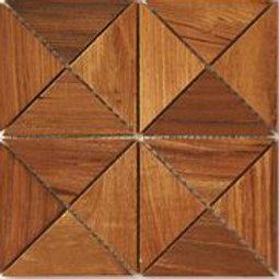 Emma Teak Tile in Natural. Prices are Per Square Foot
