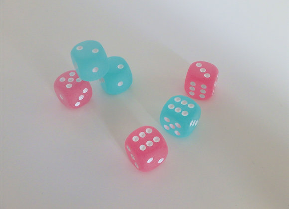 Red Hot Farkle - Frosted Pink & Blue Edition