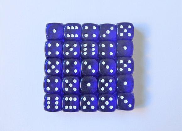 D&G Blue Gem Dice (12mm) - Set of 25