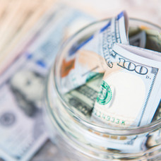 Dollar Bill in Jar
