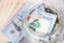 Dollar Bill no frasco