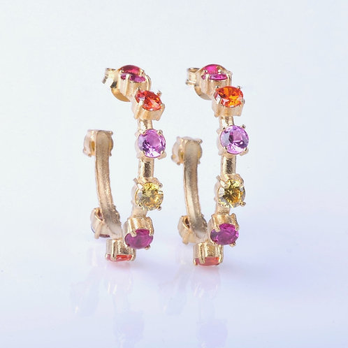 Argolas Candy - Pink