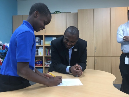 West Serves as 'Principal for a Day' at Constance Lane Elementary School