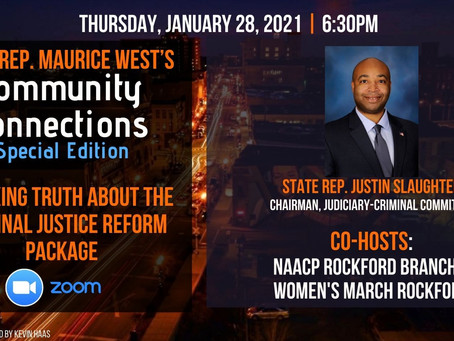 Representative West to Host Free Webinar for the Community on the Criminal Justice Reform Bill