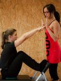 Pilates-Reach on the reformer