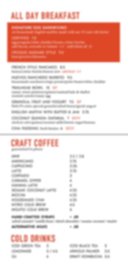 Certified Menu Breakfast Coffee