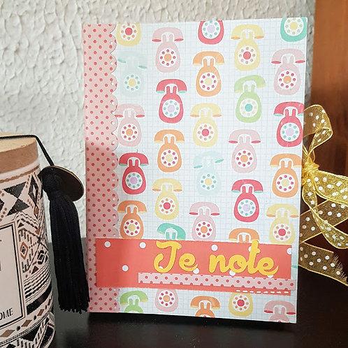 """Carnet """"Je note"""""""