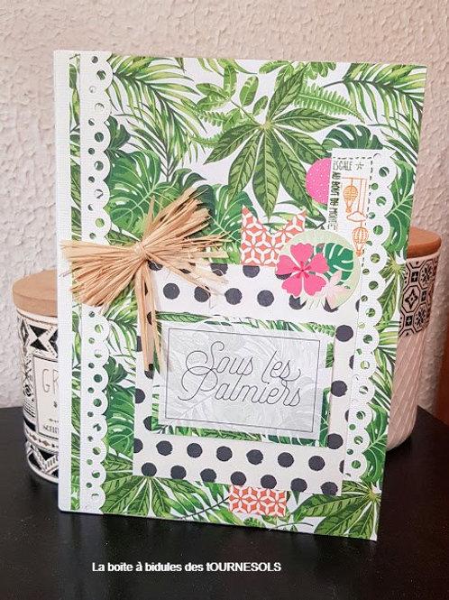 """Carnet de notes """"Sous les Palmiers"""""""
