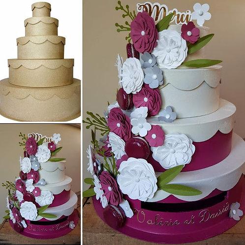 Urne gourmande sous forme de gâteau