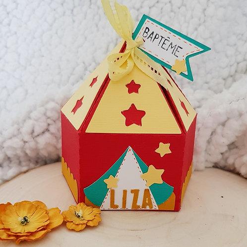 Boîte à dragées chapiteau Cirque