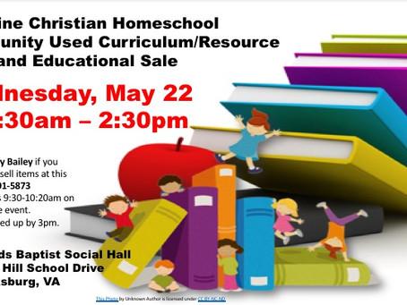 VCHC Used Curriculum/Resource Sale