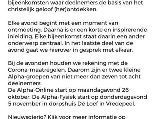 Alpha online of fysiek
