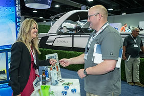 National Boat Owners Association engaging with a dealer at Dealer Week.