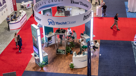 A view from above of the Boats Group at