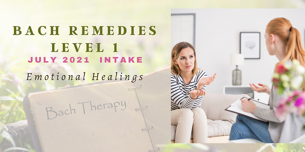 Bach Flower Remedies Level 1 Course (JULY 2021 ENGLISH)