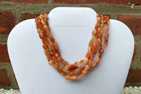 Sunstone Twisted Necklace