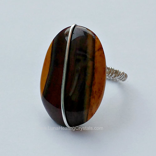 Bold Mookaite Ring