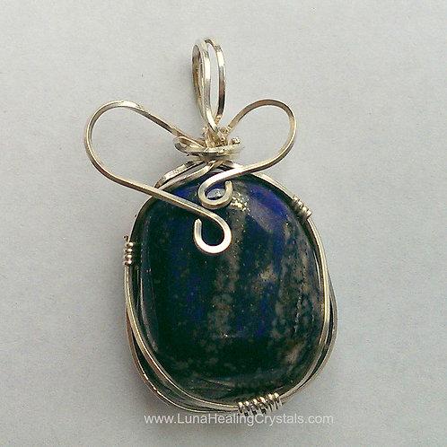 Lapis Lazuli on Sterling Silver Pendant