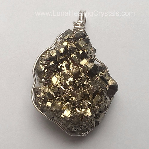 Pyrite on Sterling Silver Pendant