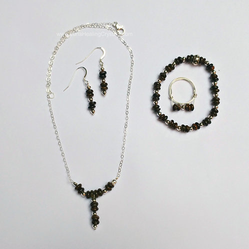 Bronzite and Silver Set