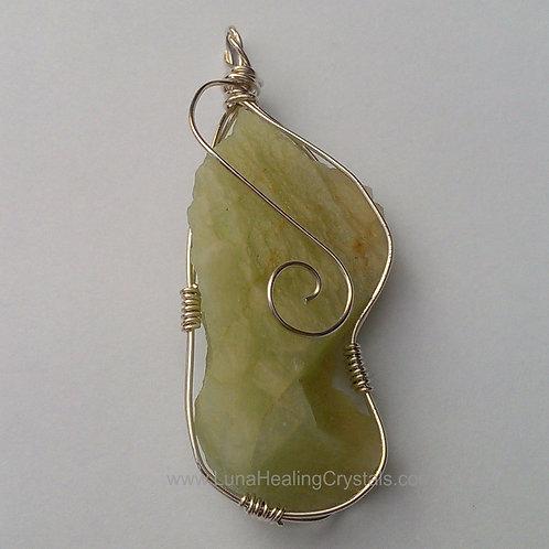 Aquamarine on Sterling Silver Pendant