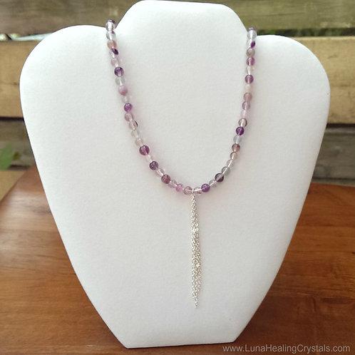 Fluorite Drop Necklace