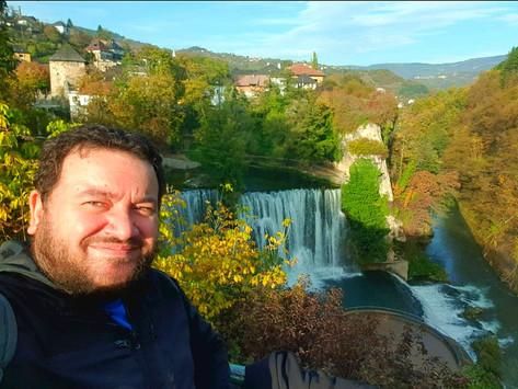 Jajce, the historic Ottoman town above waterfalls!