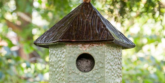 Hex Bird House - Flower Power