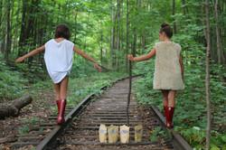 GIRLS ON TRAIN TRACK