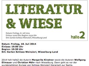 Wieselburg – 18. Juli 2014, Literatur & Wiese