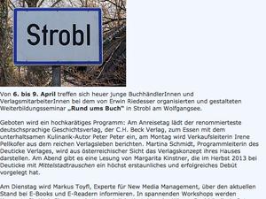 Strobl, 7.4. 2014 – Tagung der JungbuchhändlerInnen