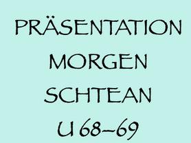 16. 9. (W): MORGENSCHTEAN-Präsentation im Tschocherl