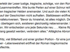 Rezension in der Wiener Zeitung