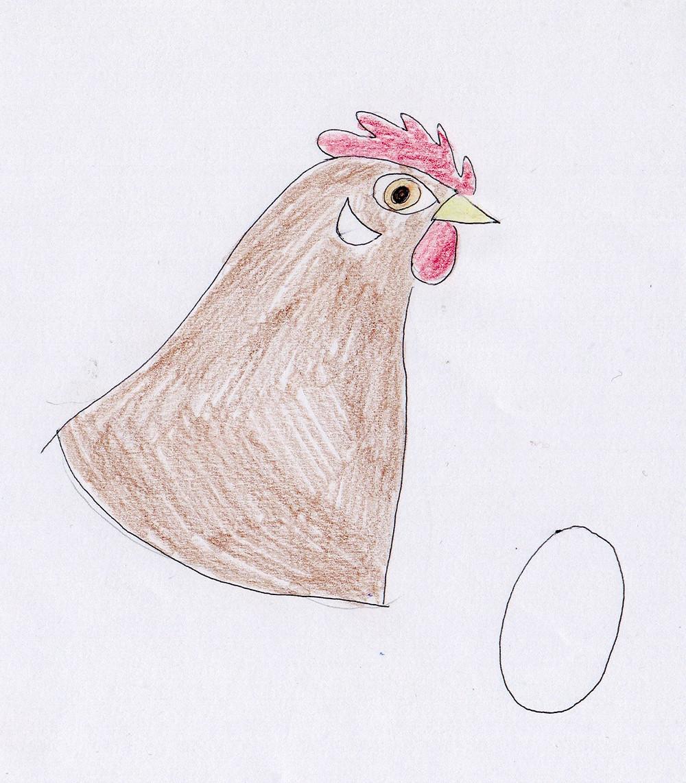 Hennen mit weißen Ohrscheiben legen weiße Eier