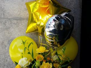 キュートな黄色のバルーン