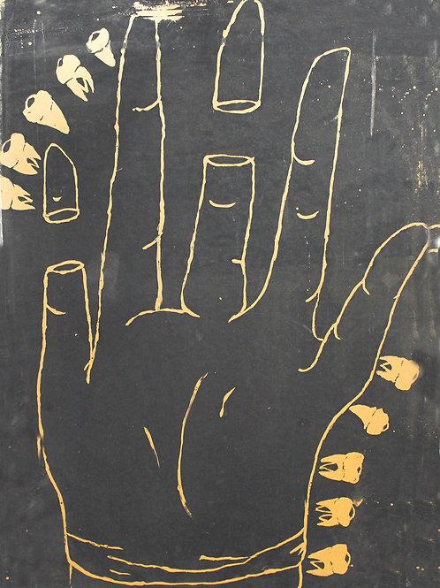Hand With Teeth Print