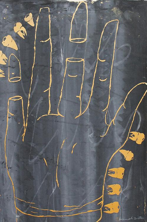 Hand With Teeth Screen Print