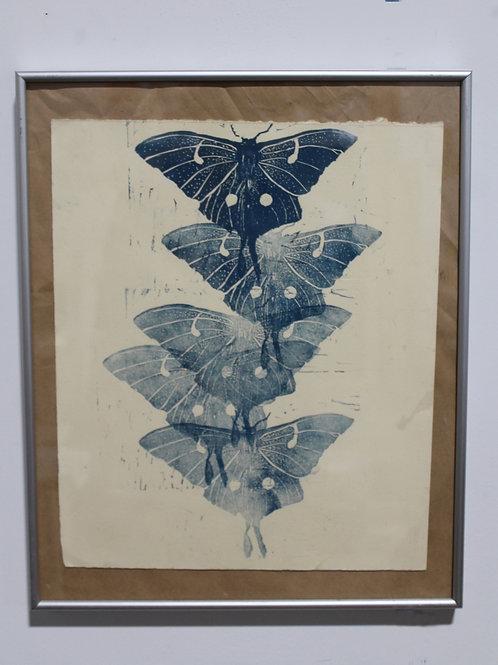 Rising Moth, Relief Cut