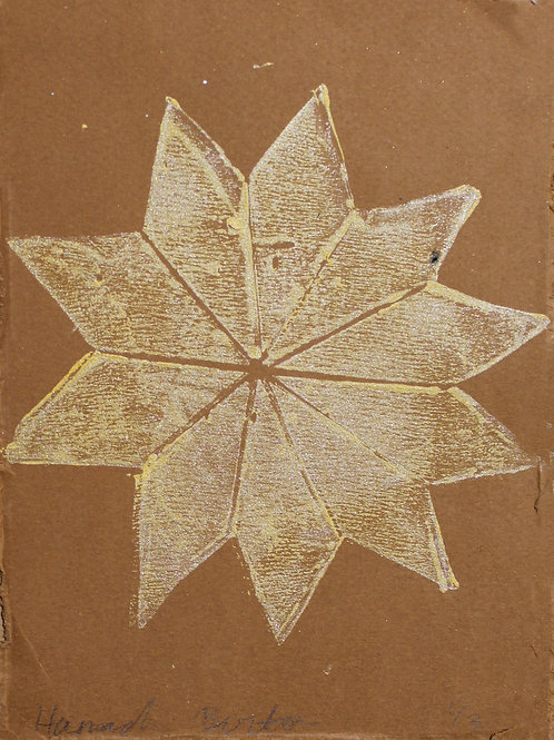 Quilt Star Lino Cut