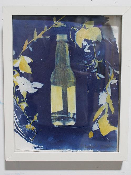 Framed Bottle Cyanotype