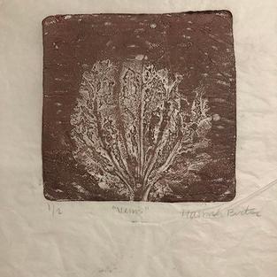 "untitled, monoprint, 8"" x 10"", 2018"