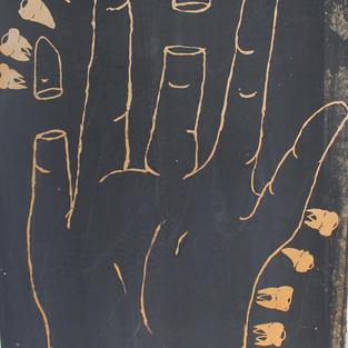 "Sister Hand, Screen Print, 18"" x 24"", 2019"